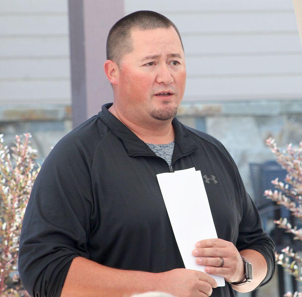 Tony Incashola, Jr. speaks to attendees