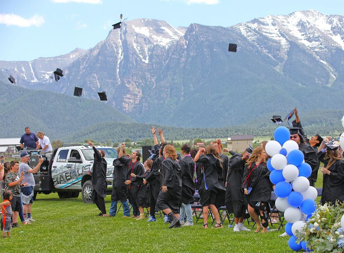The tossing of the mortar boards