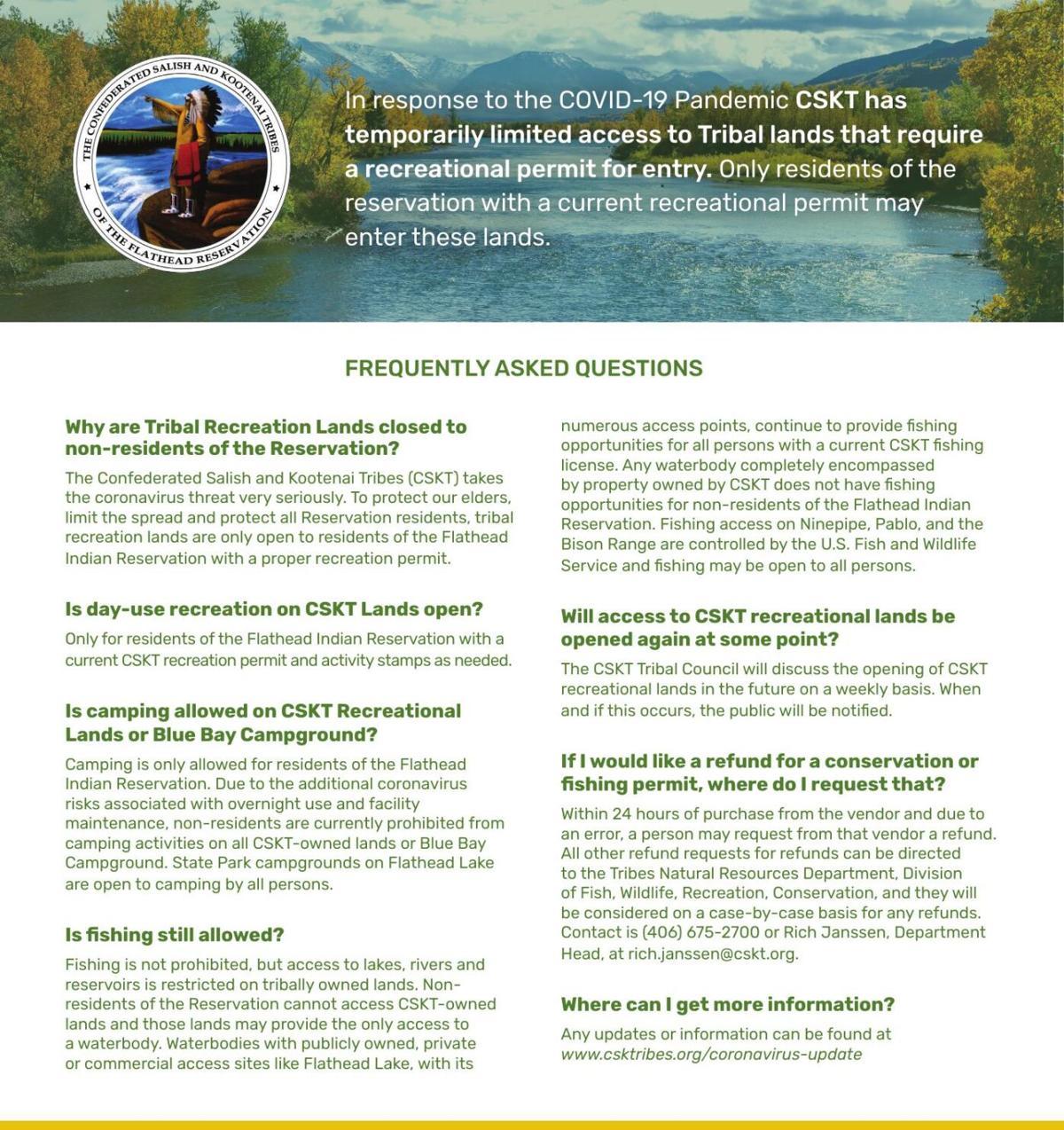 CSKT COVID FAQ - Tribal Lands