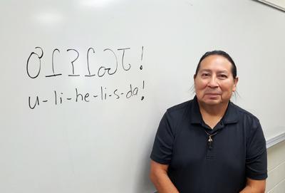 Panther teaches first Cherokee language class at University of Arkansas