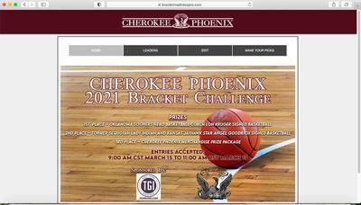 Cherokee Phoenix hosts free college basketball bracket challenge contest