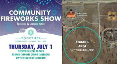 Cherokee Nation to host Community Fireworks Show Thursday