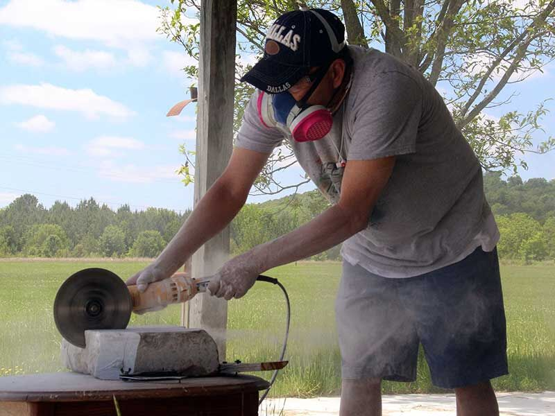 Girty continues traditional art of stone carving