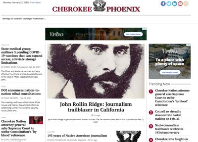 Cherokee Phoenix to launch redesigned website