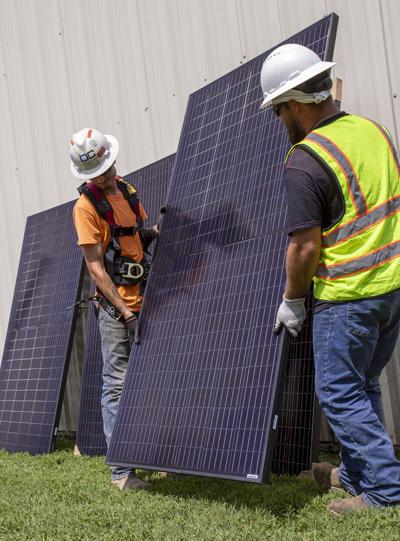 Cherokee Nation provides Chewey community building with solar panels