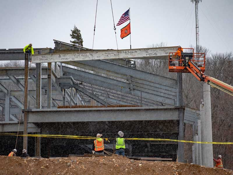 Final beam placed on�Wilma P. Mankiller Health Center expansion project