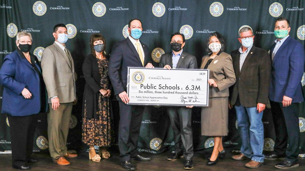 Cherokee Nation gives record $6.3M to public schools