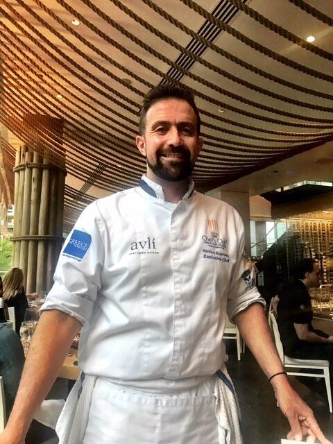 Avli on the Park's Chef Nikolaos Kapernaros.