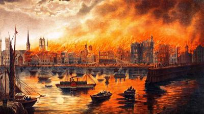 """Chicago History Museum will host """"City on Fire: Chicago 1871"""" exhibit beginning October 8."""