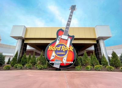 Exterior of the brand new Hard Rock Casino Northern Indiana opening Friday, May 14.