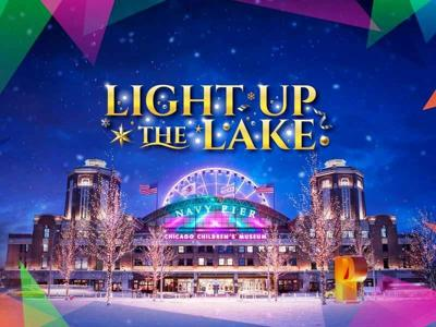"""Navy Pier's """"Light Up the Lake"""" will brighten the winter season beginning November 26 with a variety of family-friendly experiences."""