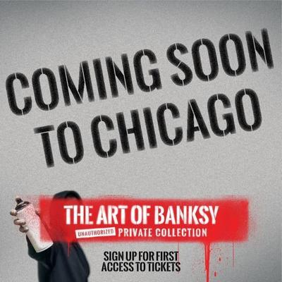 Banksy art exhibition coming to Chicago in the summer.