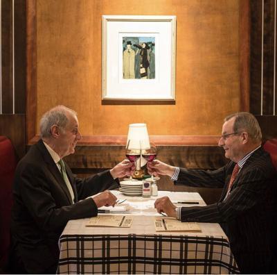 Gibsons Bar & Steakhouse founders Steve Lombardo and Hugo Ralli.
