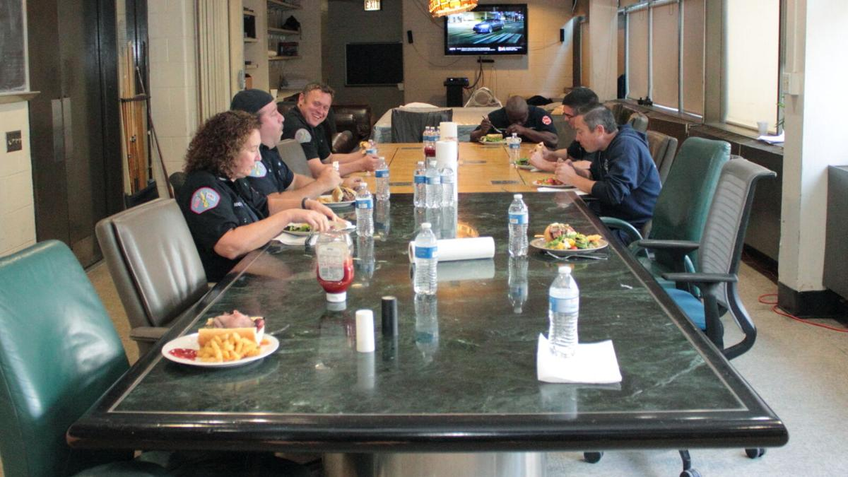Engine Co. 13 dining table