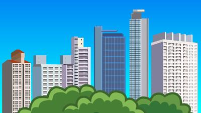 High rise building illustration