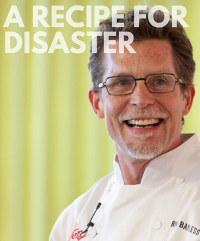 """Chef Rick Bayless and Windy City Playhouse present """"Recipe for Disaster"""" beginning October 6."""