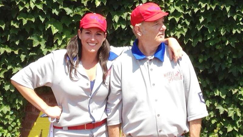 Sarah Spain with Bill Murray