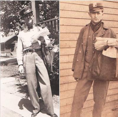 My dad (L) Richard J. Collins, and my grandpa, Richard S. Collins, both mailmen.