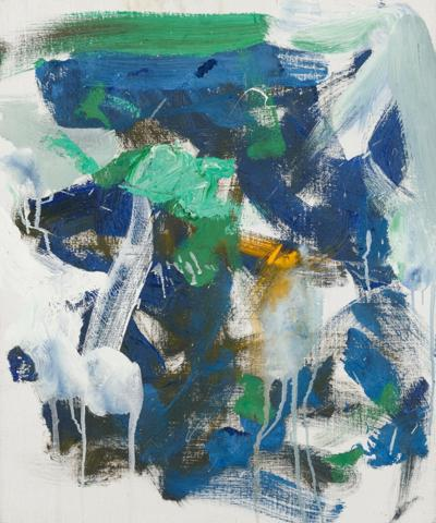 Joan Mitchell's Untitled, 1989 will be offered at Hindman Auctions' Spring Fine Art Sales.