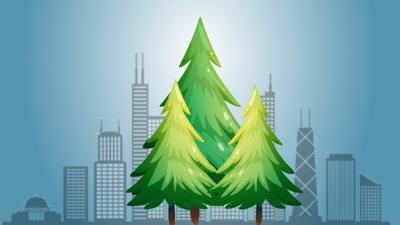 Chicago Christmas tree 2