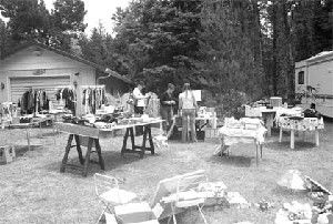 Conversations add to the interest as shoppers scour the Peninsula for garage sale bargains