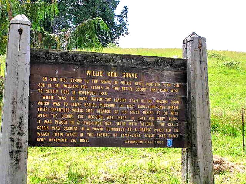 Willie Keil interpretive sign