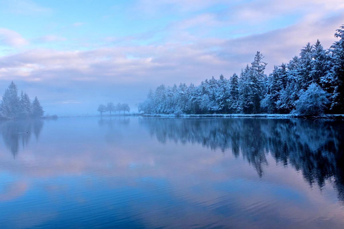 Winter scene on Black Lake