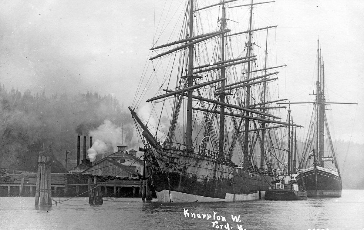 Knappton sailing ships