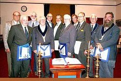 Masons honor past masters and long-term members