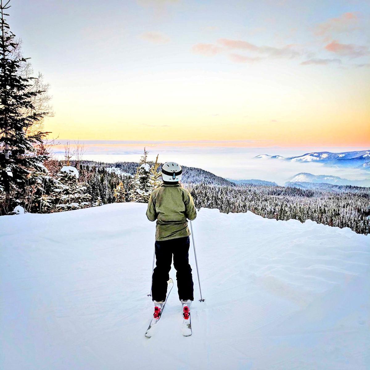 Grace Hunt surveyed the mountain