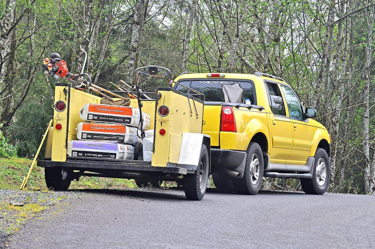 BeeKissed Gardening truck