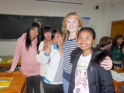 WSU student Amanda Bentley spends winter vacation serving in China