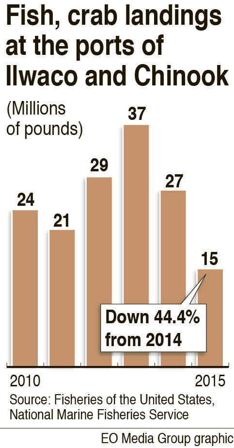 Fish landings plunged last year