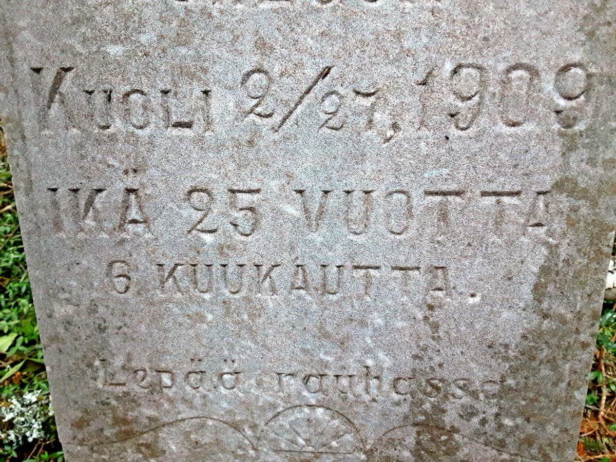 Epitaph in Finnish