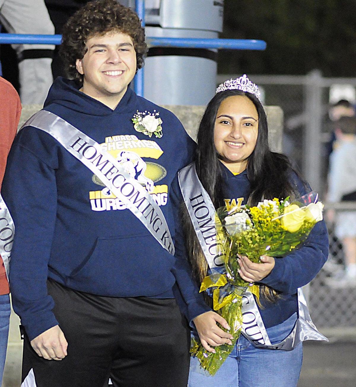 Homecoming King Jack Marshmann and Queen Jasmine Hinojosa