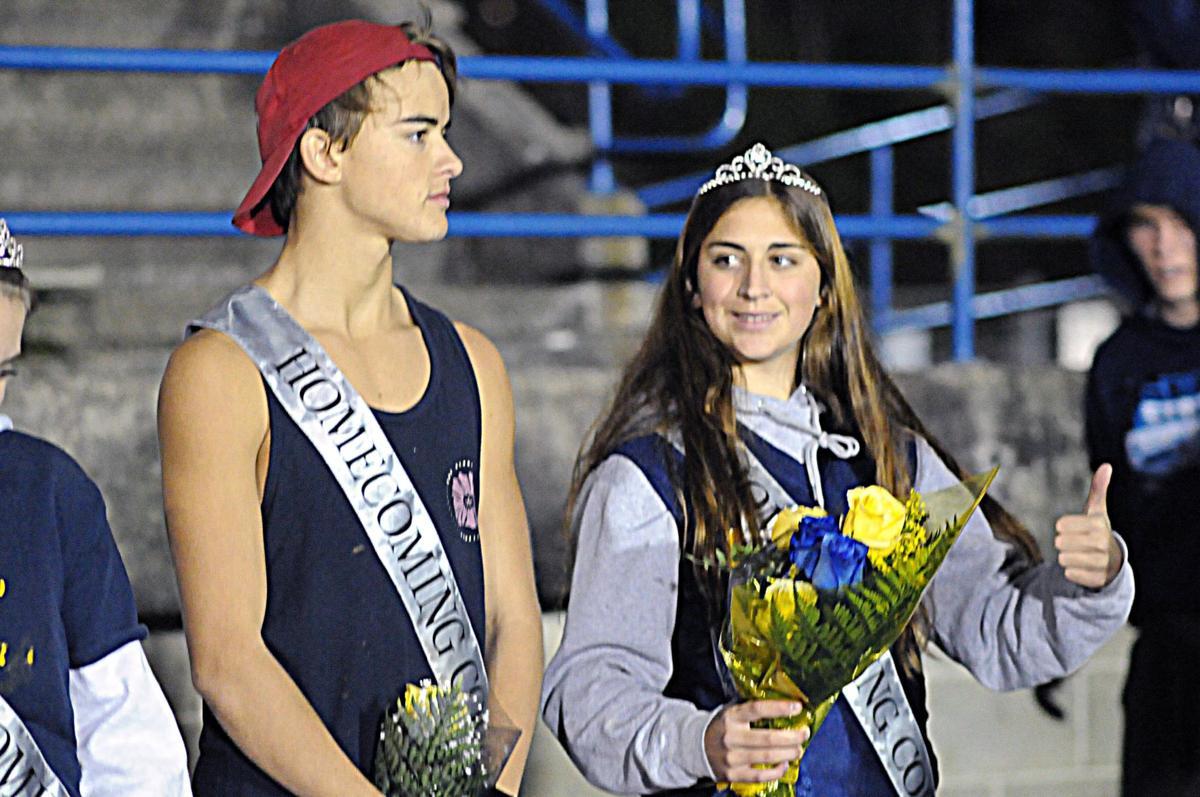 Sophomore prince Logan Rousch and junior princess Madalynn Yates