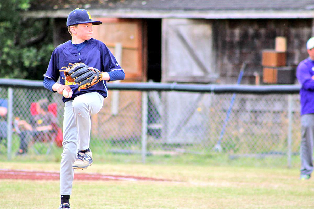 Dean Helvey pitching