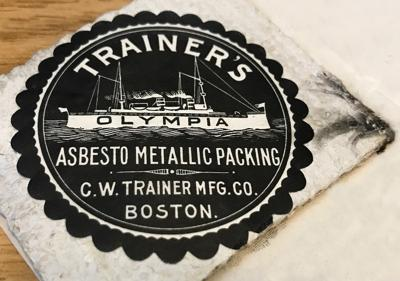 Asbestos label and sample