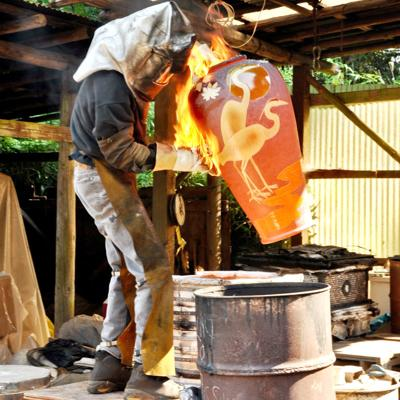 Clay art show heating up