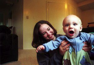 Mother's Day; Young mom and son healing after tragedy