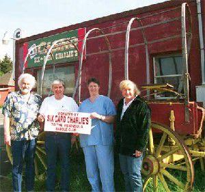 Wagon rolls to Saddle Club