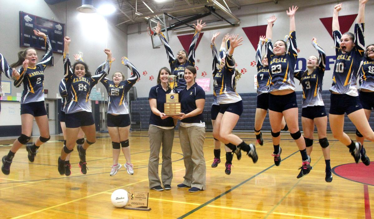 Champion Comets to play at state volleyball Naselle wins District IV trophy