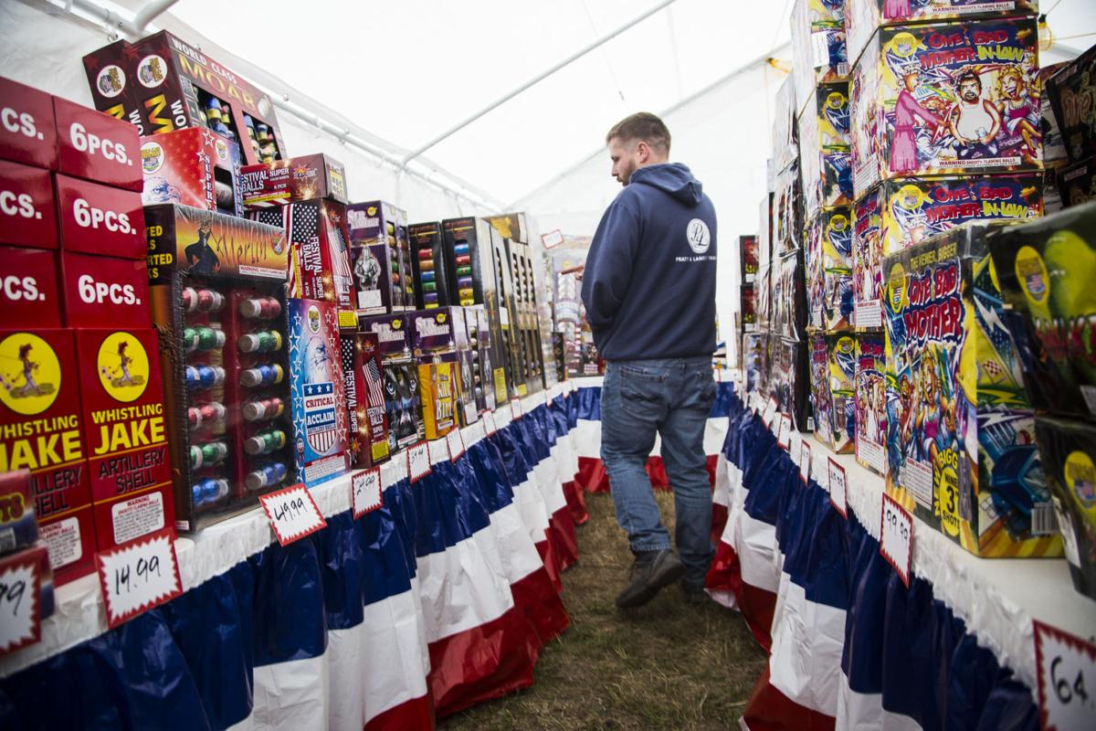 Kaboom Fireworks retailer Mark Oman set up a stand in Long Beach to sell fireworks for the first time