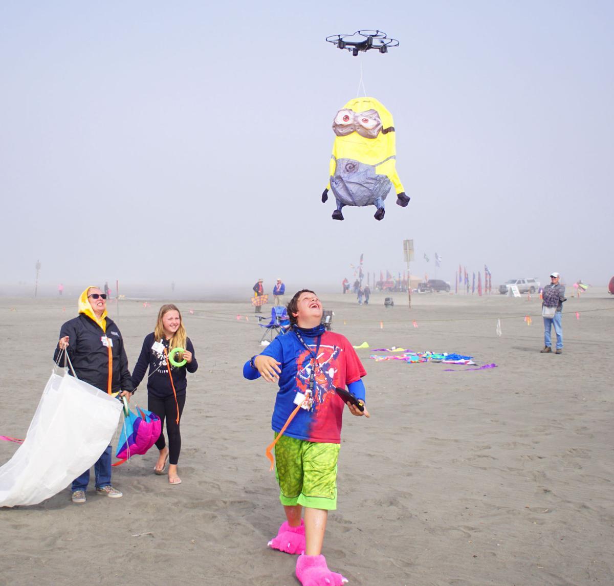 Kite festival has a calm day