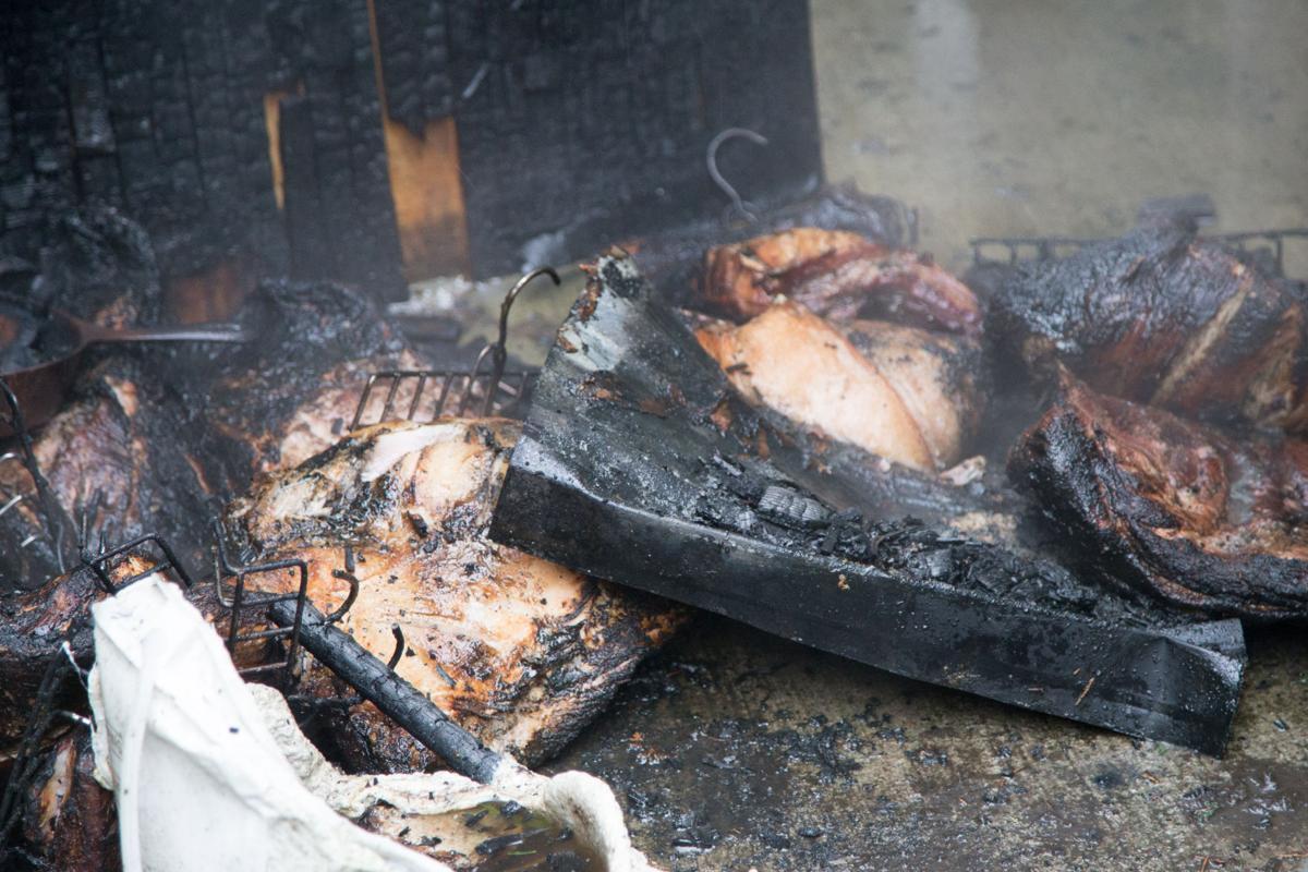 Smokehouse ham goes up in smoke