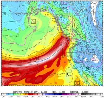 'Really juicy' atmospheric river pointed at coast
