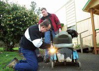Peninsula Rotarians bring light to those who travel in wheelchairs