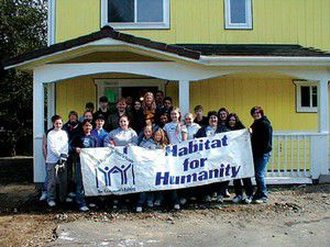Local youth group helps Habitat for Humanity