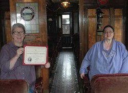 CPHM's railroad car is on Washington Heritage Register of Historical Places