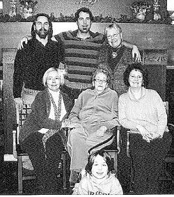 Four generations celebrate Alma Carroll's birthday